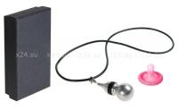 Кулон-вибратор Gourd Necklace серебряный с черным
