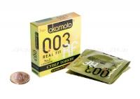 Супер тонкие презервативы облегающей формы OKAMOTO Real Fit 3 (3 шт.)