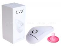 Клиторальный стимулятор OVO (5 режимов) белый