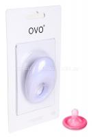 Белое эрекционное кольцо на пенис OVO с вибрацией
