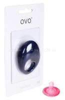 Синее эрекционное кольцо на пенис OVO с вибрацией