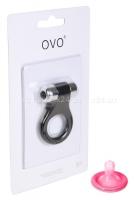 Эрекционное кольцо OVO с вибрацией черный