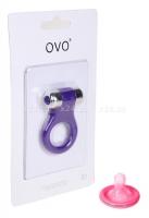 Эрекционное кольцо OVO с вибрацией фиолетовый