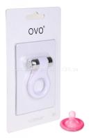 Эрекционное кольцо OVO с вибрацией белый