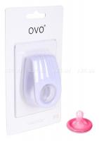 Двойное эрекционное белое виброкольцо на пенис OVO