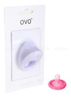Широкое эрекционное кольцо на пенис OVO с вибрацией белый