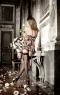 Мини-платье с цветами
