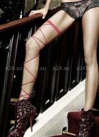 Фантазийный чулок на ногу красный