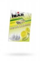 Презервативы Luxe КОНВЕРТ, Золотой кадиллак, лимон, 18 см., 3 шт.